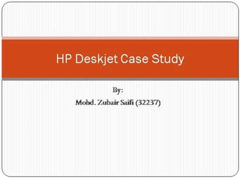 Case study and presentation ppt